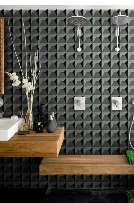 Carta da parati di Wall&Decò nella doccia