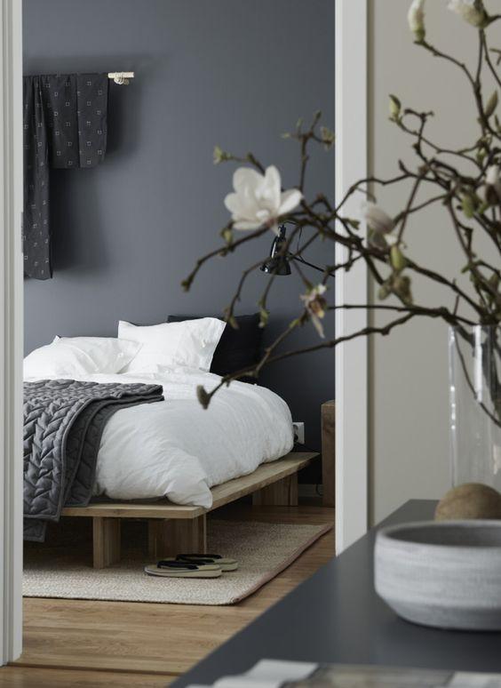 Camera da letto in stile Japandi