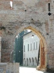 Dettaglio della vista dalla Torre Scudata di Cordovado