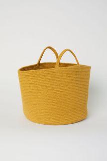 Cestino porta oggetti giallo di H&M
