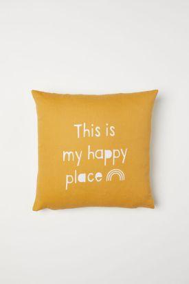 Cuscino giallo di H&M