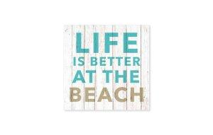 """Tovagliolo con scritta """"Life is better at the beach"""""""
