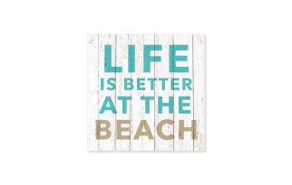 "Tovagliolo con scritta ""Life is better at the beach"""