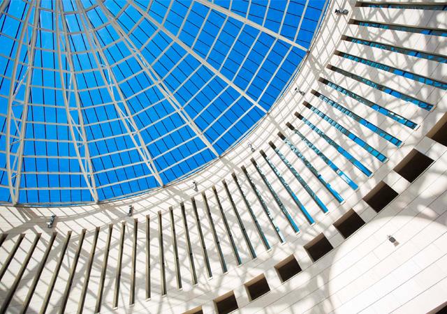 Dettaglio della cupola del Mart (Mario Botta e Giulio Andreolli)