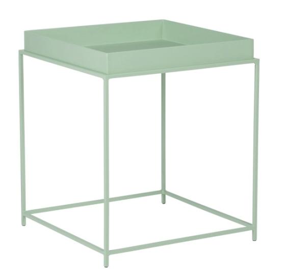 Tavolino in metallo verde chiaro