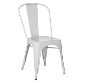Sedia in metallo bianco lix