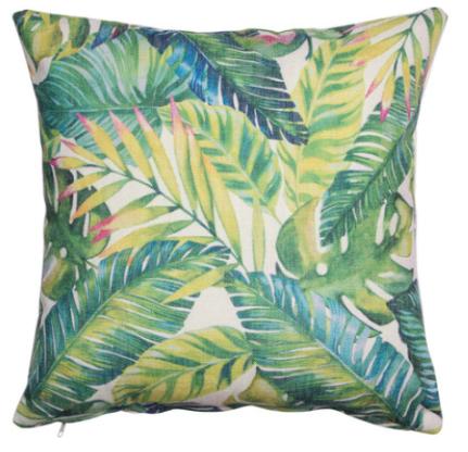 Cuscino di Mossapour con fantasia a foglie