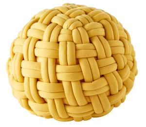 Pouf Intrecciato giallo