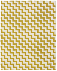 Tappeto Gunnel giallo e bianco in materia plastica