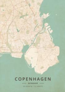 Mappa vintage Copenhagen