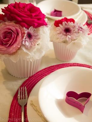 Cupcake di fiori medio e grande