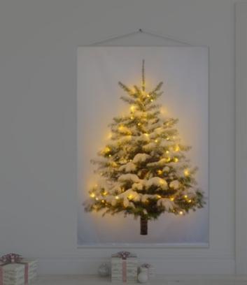 Tenda con albero e lucine incorporate