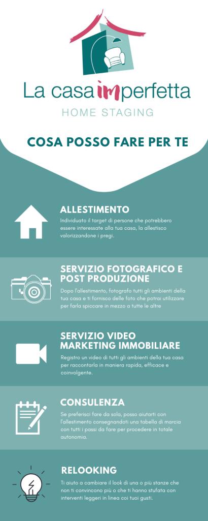 Infografica che elenca i vari servizi offerti