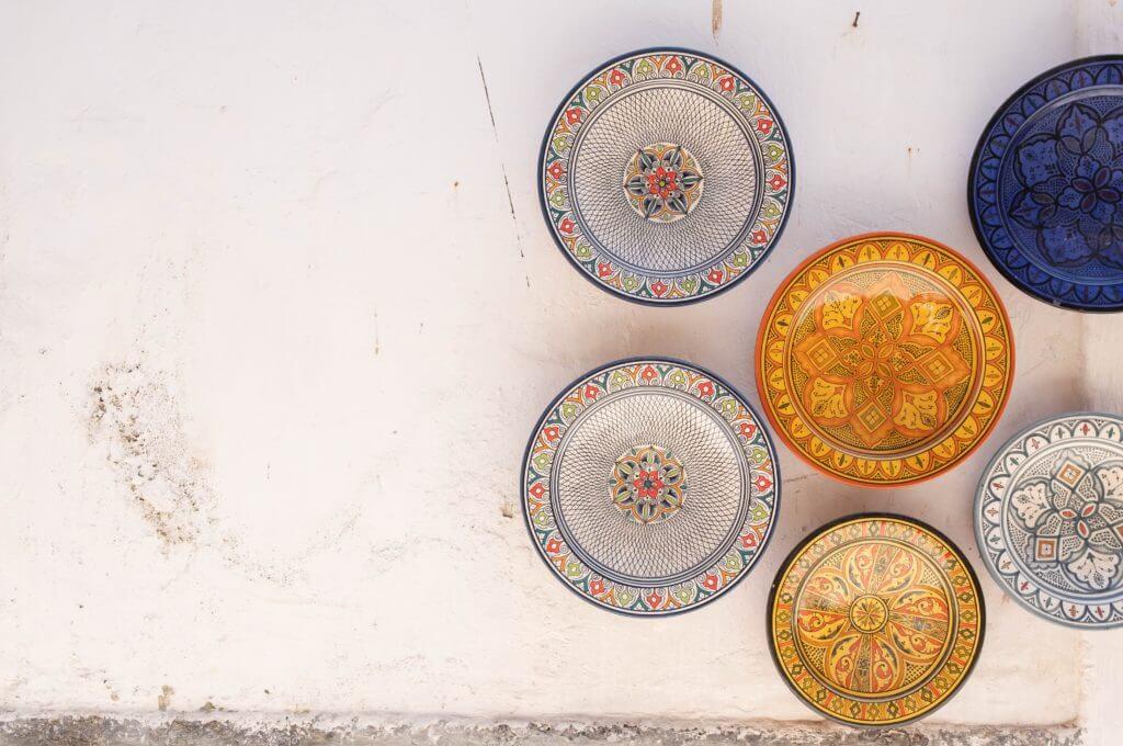 composizione marocchina piatti ceramica