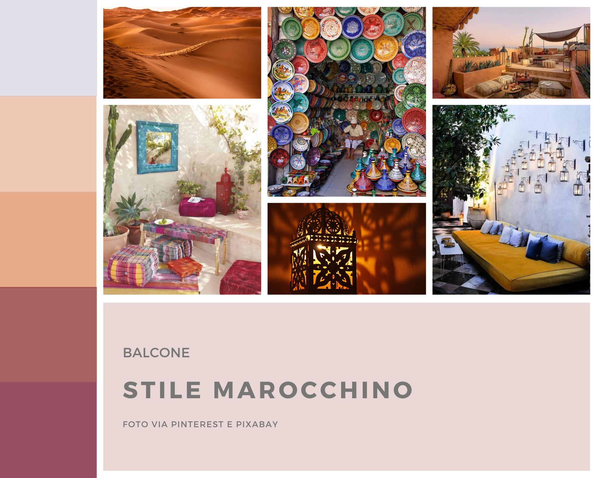 Moodboard stile Marocchino