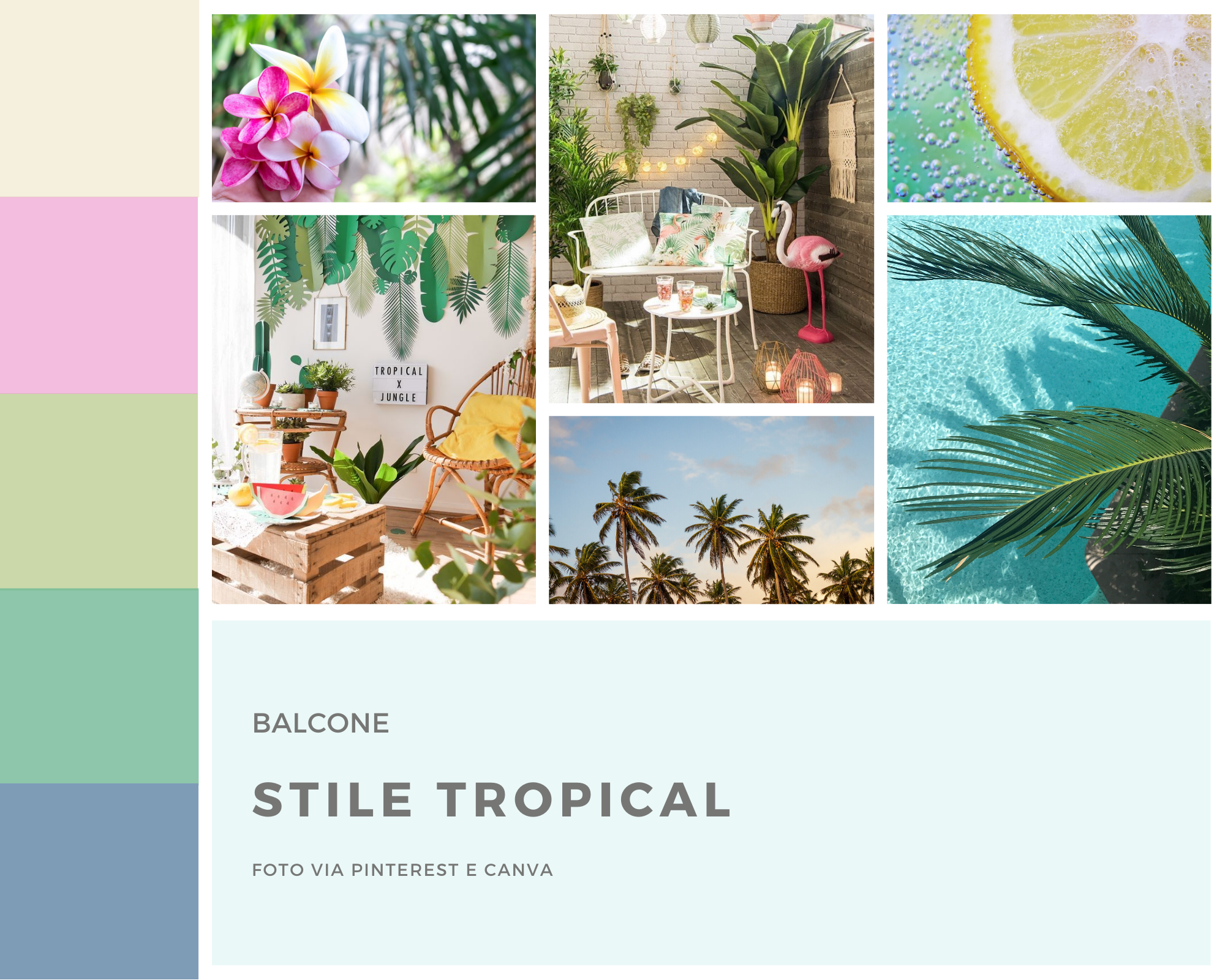Moodboard stile Tropical